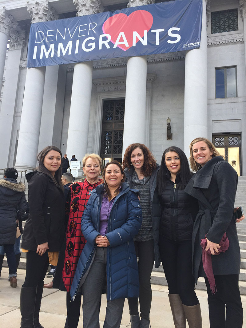 Part of our team at the Denver's Immigrant Legal Services Fund Launch
